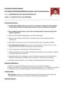 sas 2 years experience resume sle resume format for 2 years experience in testing sle resume
