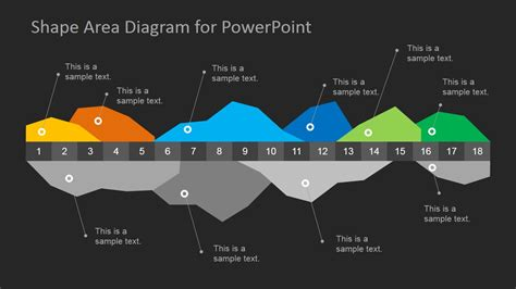 dark infographics area chart template  powerpoint