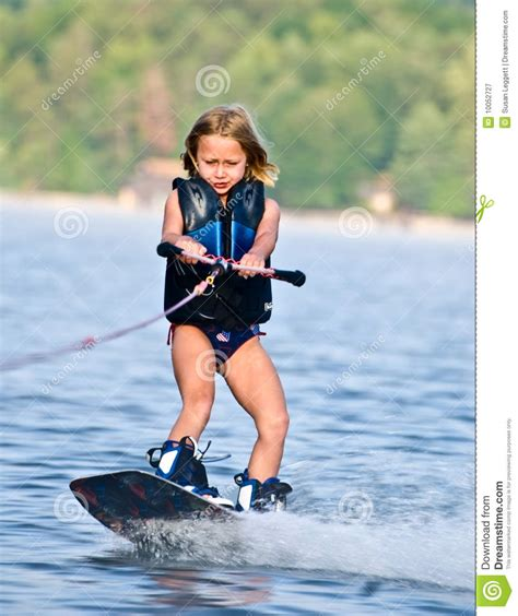 young girl  wakeboard royalty  stock photography