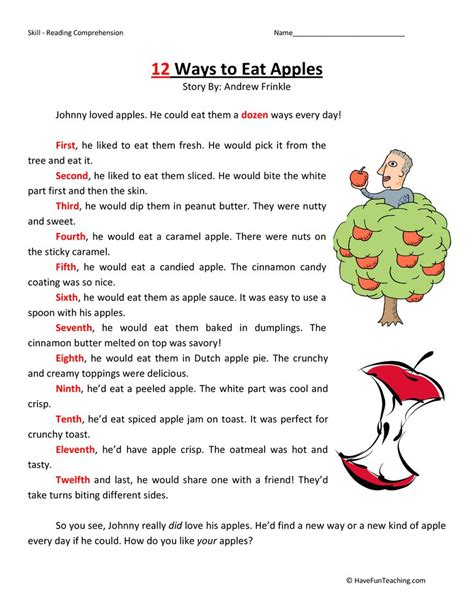 reading comprehension second grade breadandhearth