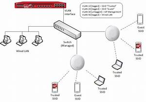 Diagram Of A Wired Lan Connection With 10 User