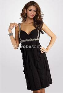 robe de soiree tess courte bretelles bustier coeur cascade With robe de cocktail combiné avec pandora collier coeur