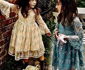 Robe Boheme Fille : robe petite fille dentelle brodee boho boheme chic ~ Melissatoandfro.com Idées de Décoration
