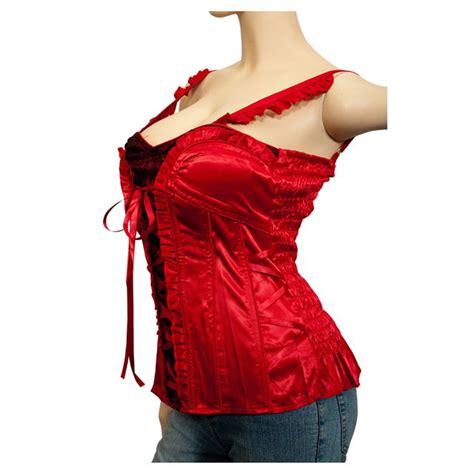 size sexy corset bustier top red evogues apparel