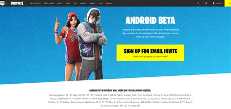 install fortnite beta   android  sign