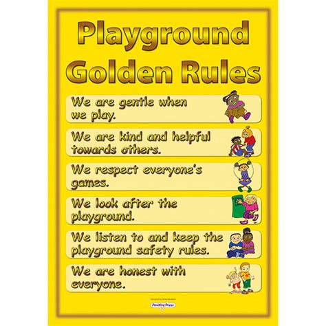 playground golden poster mosley education 666 | Playground golden rules poster