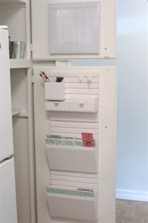 kitchen cabinet school command center simply organized