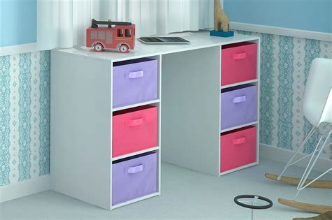 Childrens Desk With Storage by Desk Storage 6 Canvas Drawers For Children S