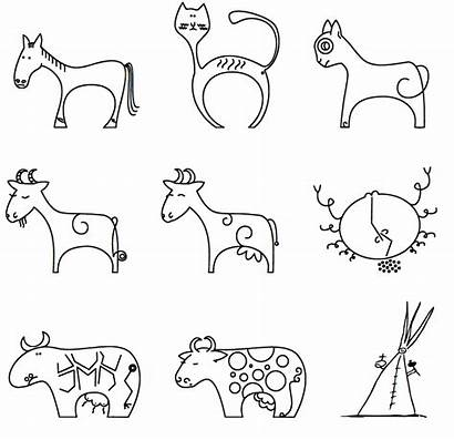 Doodles Simple Doodle Animals Drawings Whimsical Fonts