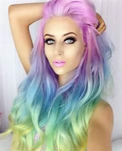 Rainbow Dyed Hair Color Hair Ideas Pinterest Dye