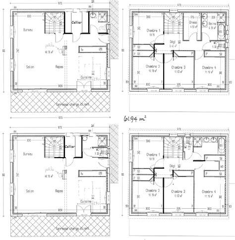 plan de maison à étage 4 chambres avis sur notre plan maison à étage avec 4 chambres 127m2