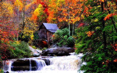 Fall Desktop Backgrounds by Wallpaper Collections Autumn Waterfalls