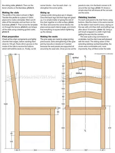 Pine Dining Table and Chairs Plans ? WoodArchivist