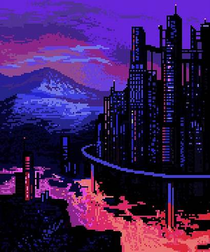 Pixel Gifs Future Cyberpunk Aesthetic 8bit Neo