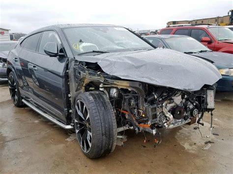 crashed lamborghini urus hits  market