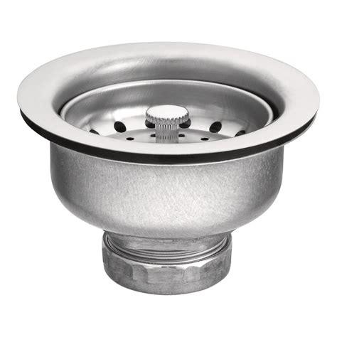 kitchen sink locknut moen 22037 3 1 2 inch drop in basket strainer with drain 2771