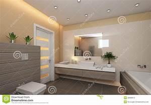Holz Im Badezimmer : helles badezimmer mit holz stock abbildung bild von ~ Lizthompson.info Haus und Dekorationen