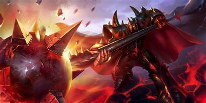 Mordekaiser Lol Infernal League Legends Splash 4k