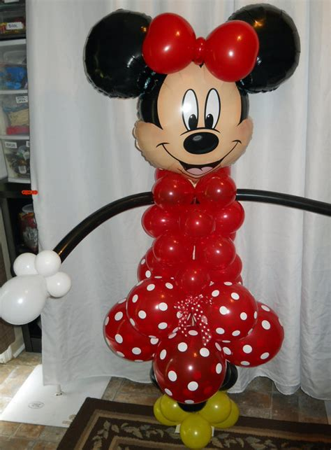 Mickey And Minnie Balloon Decorations - cheap minnie and mickey mouse balloon column kit for