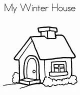 Coloring Winter Cartoon Drawing Houses Printable Colouring Clipart Clip Popular Clipartmag Library Coloringhome sketch template