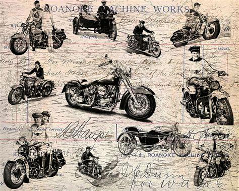 Vintage Harley Davidson Poster Digital Art By Eti Reid