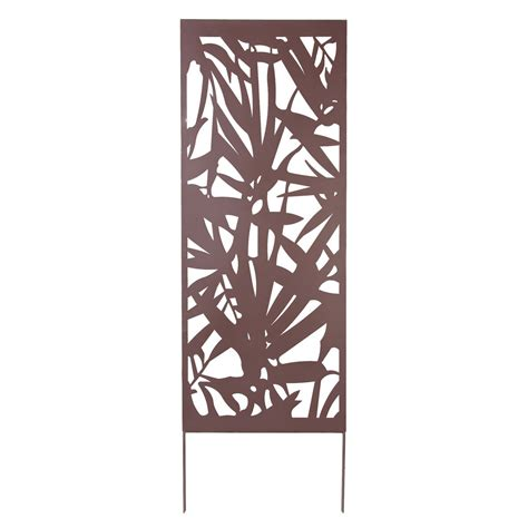 cuisine d été aménagement nortene treillage décoratif métal feuille brun