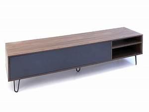 Meuble Tv Pied Metal : meuble tv design industriel scandinave c 39 est par ici ~ Teatrodelosmanantiales.com Idées de Décoration