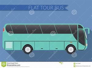 Flat Design Vector Illustration City Transportation, Bus ...