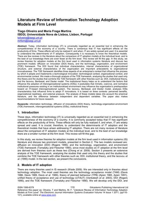 literature review  information technology adoption