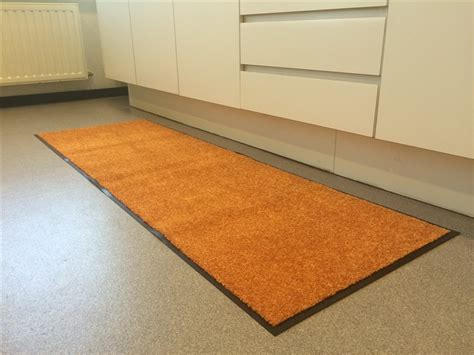 tapis de cuisine orange absorberend keukentapijt oranje wash en clean ehome