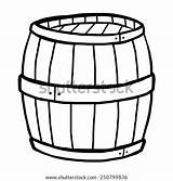 Barrel Cartoon Keg Coloring Sketch Pages Wooden Template sketch template