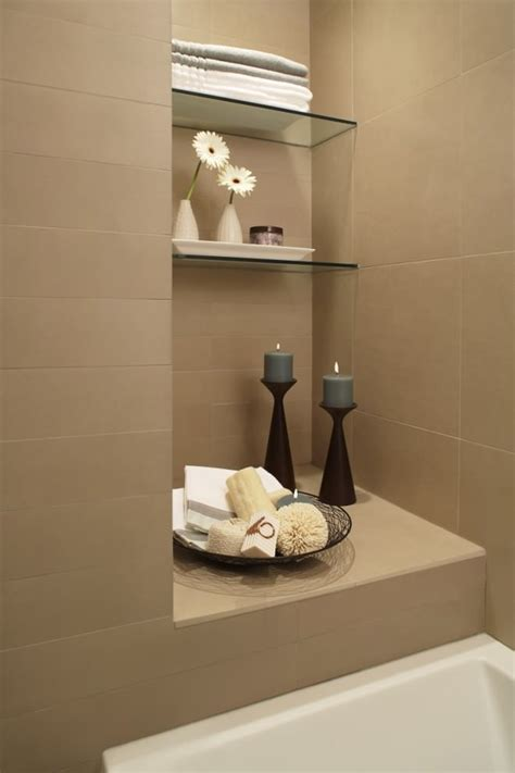 Decorating Ideas For A Bathroom Shelf by 23 Bathroom Shelf Designs Decorating Ideas Design
