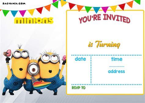 printable minion birthday invitation templates