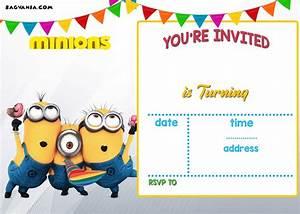 Birthday Invitation Software Free Printable Minion Birthday Invitation Templates Bagvania