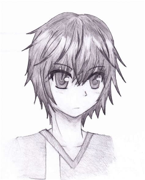 anime cool boy drawing anime boy drawings in pencil drawing artistic
