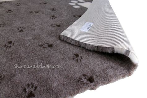 tapis chien antidrapant drybed marron grosses pattes