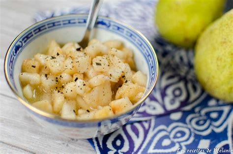 cuisiner avec une bouilloire cuisiner à la bouilloire poire à la vanille les