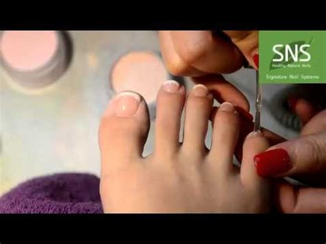 sns pink  white toes youtube