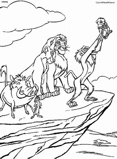 Coloring Pages Rock Pride Lion King