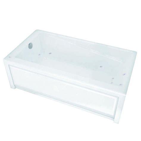 maax new town 6030ifs white acrylic whirlpool tub with