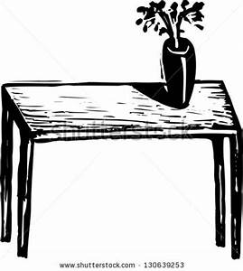 Vase clipart table - Pencil and in color vase clipart table