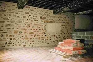 les travaux au gite du moulin de marnay With mur en pierre apparente interieur