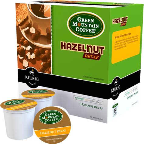 This normally leaves around one to two percent of caffeine remaining. Green Mountain Coffee Hazelnut Decaf Keurig K-cup 18 Pk. | Beverages & Coffee | Food & Gifts ...