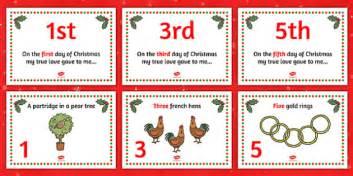 twelve days  christmas visual aids twelve days