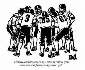 A Football Team Huddles Drawing by Drew Dernavich