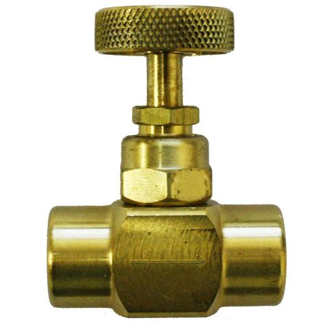 palmer instruments   npt brass screw  needle valve