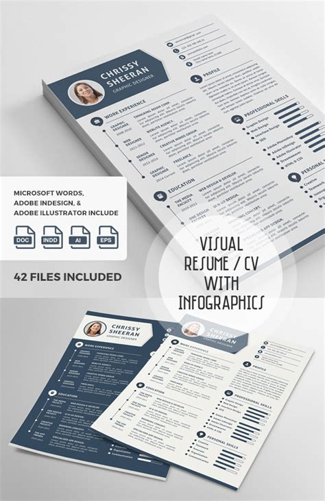 Graphic Visualizer Resume by 50 Best Cv Resume Templates With Cover Letter Idevie