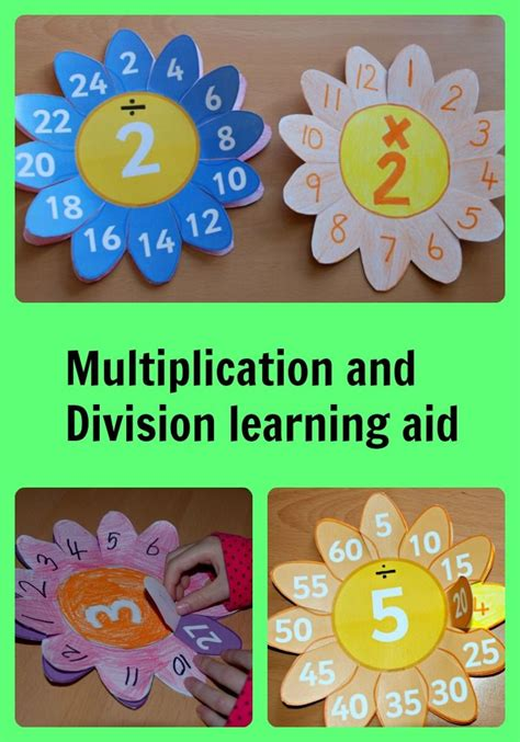 multiplication and division flower learning aids