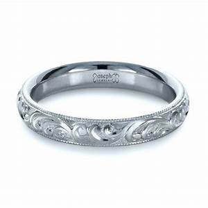 Custom hand engraved band 1377 for Engravings on wedding rings