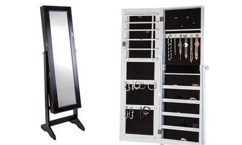 miroir sur pied avec armoire bijoux int 233 gr 233 e groupon shopping